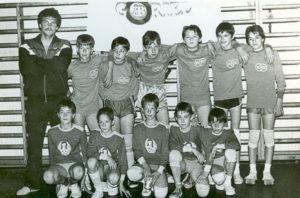 Kép a 80-as évek végéről BVK-s – Vegyész – mezben