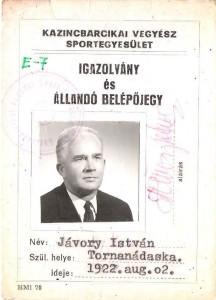 KVSE-igazolvány, 1970