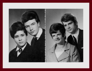 """""""Emlékezve barátainkra. Általunk is őszintén szeretett Kati eltávozása bennünket is lesújtott, Tinti barátunk gyászában mélyen osztoztunk. Drága Kati emléke örökké szívünkben él... 60-as évek közepén készült közös fotó, jobbról: Pásztor Bandi, Kovács Kati, Kajdacsy Tibi és Fuksz Erzsi"""