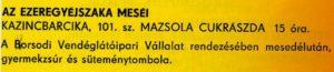 11. Mazsola - 1972.10.08