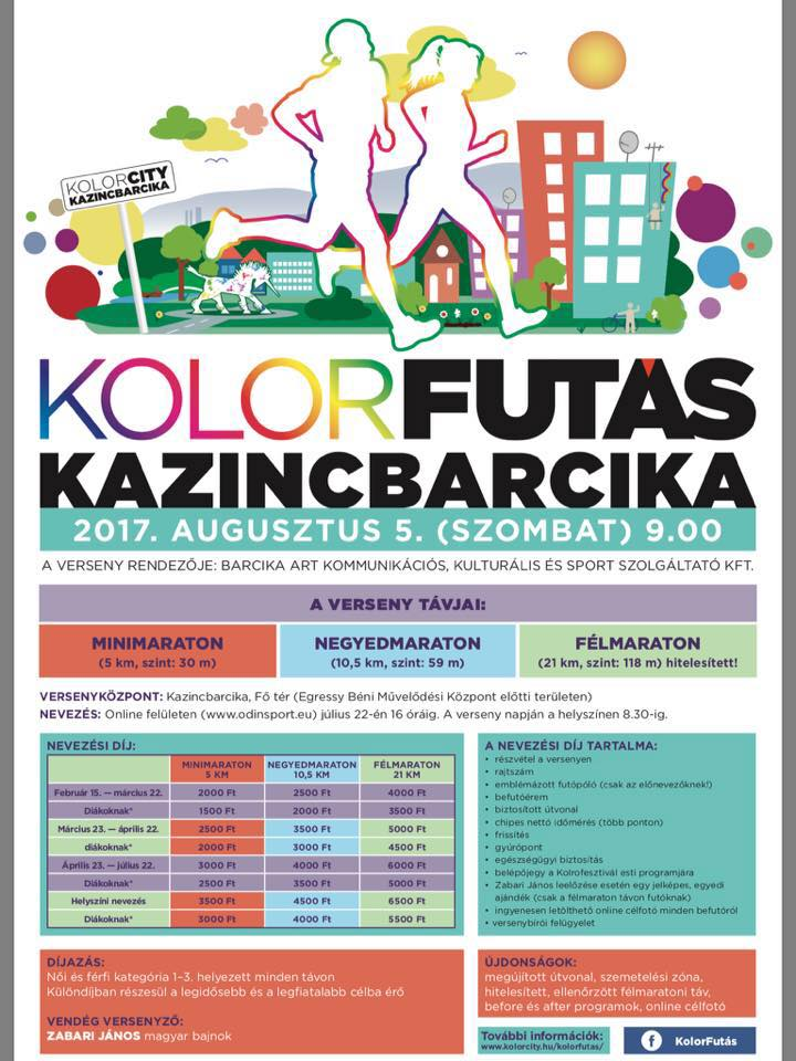 Kolorfutás @ Kolorfutás | Kazincbarcika | Magyarország