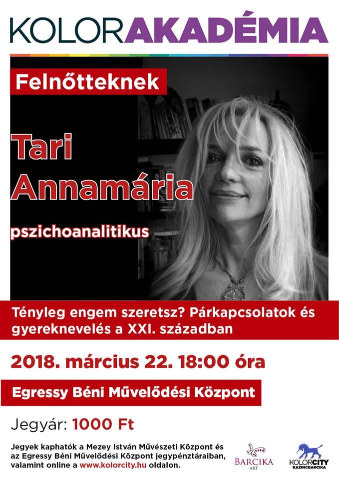 Kolorakadémia - Tari Annamária pszichoanalitikus @ Egressy Béni Művelődési Központ | Kazincbarcika | Magyarország