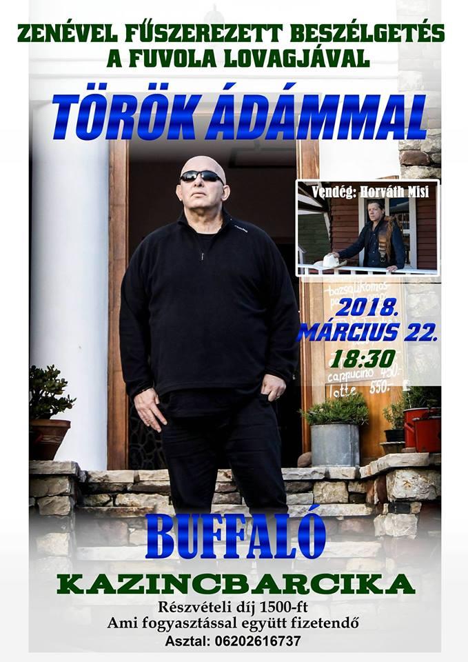 Török Ádám a Buffalóban! @ Buffalo Sör és Ételbár | Kazincbarcika | Magyarország