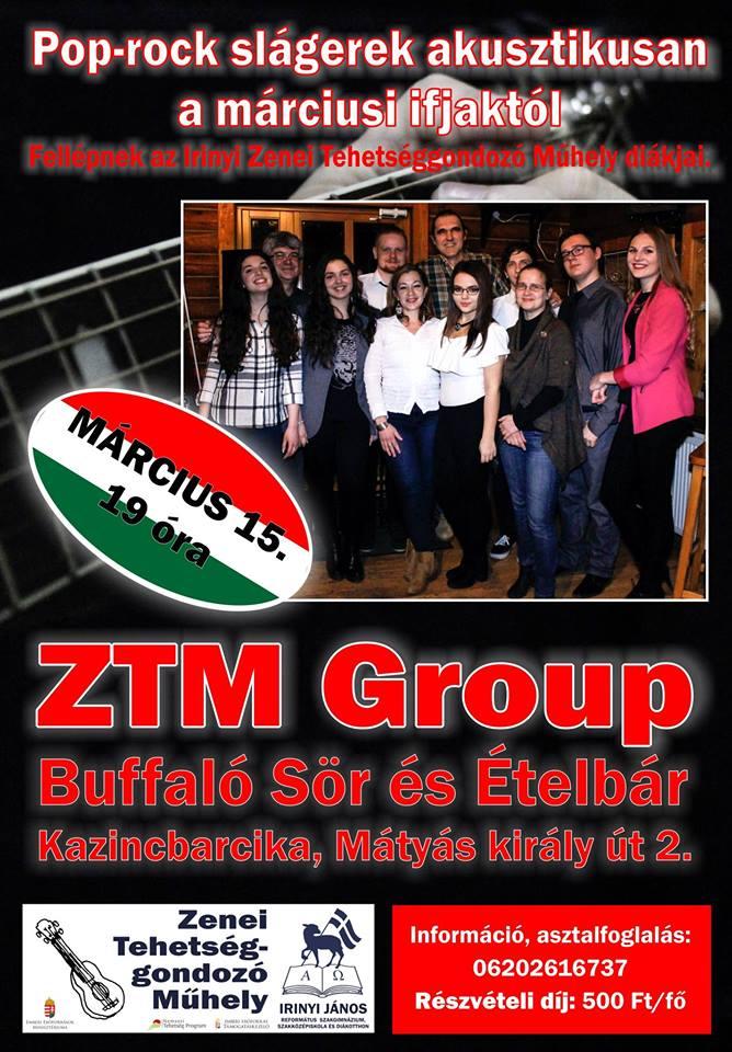 Pop-rock slágerek akusztikusan a márciusi ifjaktól @ Buffalo Sör és Ételbár | Kazincbarcika | Magyarország