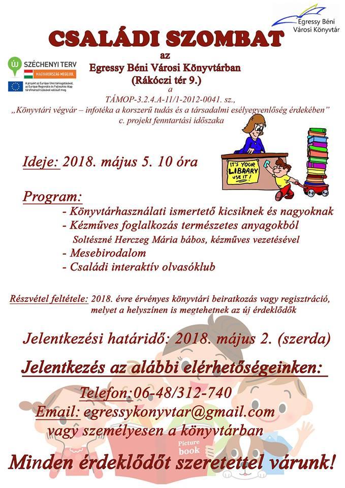 Családi szombat @ Egressy Béni Városi Könyvtár | Kazincbarcika | Magyarország