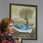 Alkotni örömből, nyugdíjasként is szárnyalni - Bucsai Gyöngyi amatőr festő kiállítása az Újkazinci Baráti Körben
