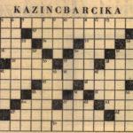 Egy 1963-as keresztrejtvény Kazincbarcikáról